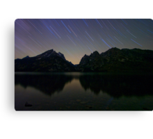 Star Trails Over The Tetons Canvas Print