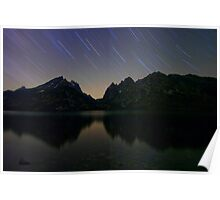 Star Trails Over The Tetons Poster