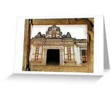 Church Facade - Guatemala Greeting Card