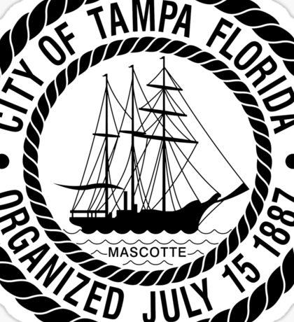 Tampa City Seal Sticker Sticker