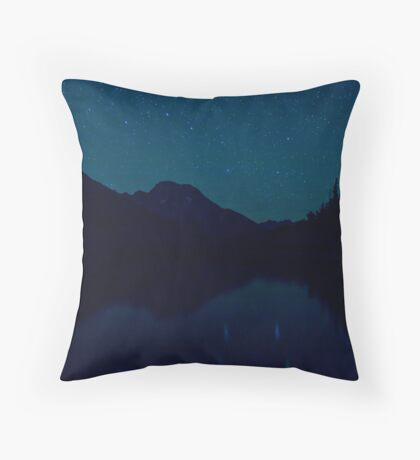 Big Dipper Reflected In Jenny Lake, Wyoming Throw Pillow