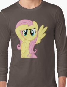 Fluttershy at attnetion Long Sleeve T-Shirt