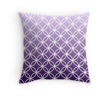 Purple Ombre Lattice Circles Throw Pillow