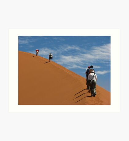 The ascent of Sossusvlei Art Print