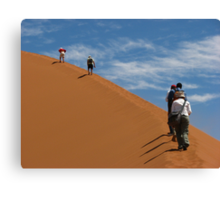 The ascent of Sossusvlei Canvas Print