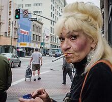 Woman Smoking by Alveraz Ricardez