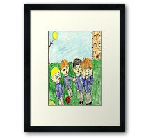 bullying has to stop itshurts others Framed Print