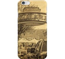 Kansas City River Market, City Market, Farmer's Market, Vintage Style iPhone Case/Skin