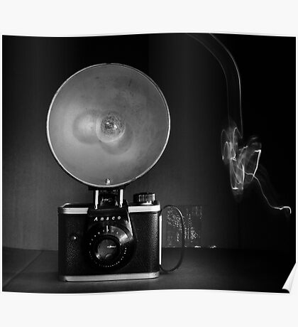 Flash Bulb and an Ansco Camera   Poster