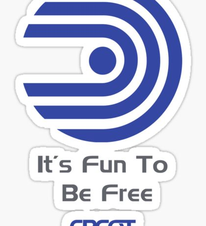 """World of Motion """"It's Fun To Be Free"""" Sticker"""