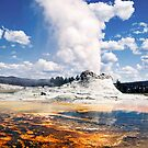 Castle Geyser - Yellowstone National Park by Kenneth Keifer