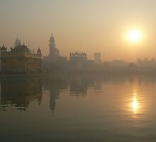 Golden Temple complex at dawn by jmccabephoto