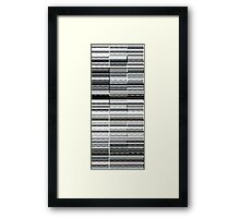 Glitch B/W Framed Print
