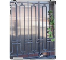 Locked gates with ornaments of metal strips iPad Case/Skin
