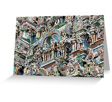 Temple carvings Greeting Card