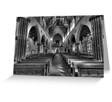 It's All Black & White - St Saviours Cathedral, Goulburn NSW Australia - The HDR Experience Greeting Card