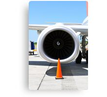 Air transportation: Jet engine detail. Canvas Print