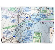 Air navigation chart. Poster