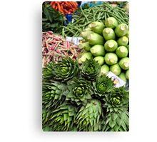 Mixed vegetables. Canvas Print