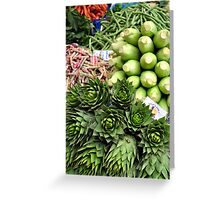 Mixed vegetables. Greeting Card