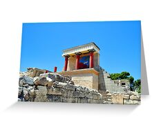 Archaeological site of Knossos. Minoan Palace. Crete. Greeting Card