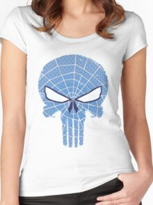 SpiderPunisher in Blue 2 Women's Fitted Scoop T-Shirt
