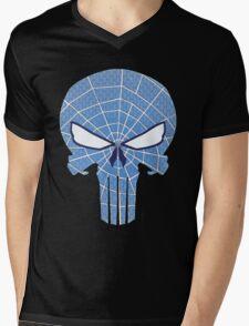 SpiderPunisher in Blue 2 Mens V-Neck T-Shirt