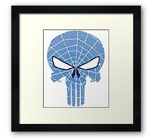 SpiderPunisher in Blue 2 Framed Print