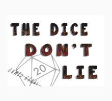 Dice Don't Lie - Gamer Geeks Kids Tee