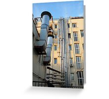 Back of the multistorey office building Greeting Card