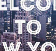 Welcome to New York Lyrics - 1989 Sticker