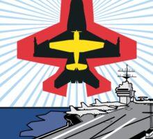 USS George H W Bush Emblem Sticker Sticker