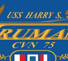 USS Harry S Truman Emblem Sticker Sticker