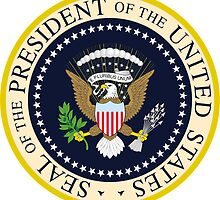 US President Seal Sticker by ukedward
