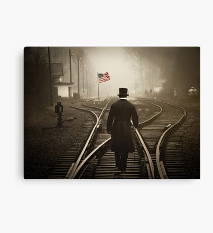 Looking For America... Canvas Print