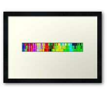 Spectrum data glitch Framed Print
