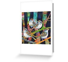 White-throated sparrows Greeting Card