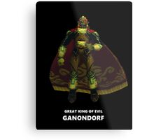 Great King of Evil - Ganondorf Metal Print