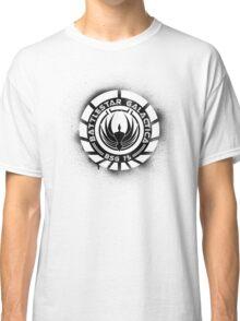 Battlestar Galactica Grunge - Blue line Classic T-Shirt