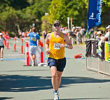 Kingscliff Triathlon 2011 finish line B6469 by Gavin Lardner