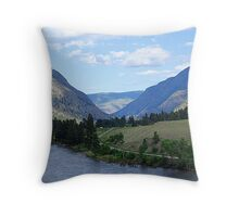 Road to Penticton Throw Pillow