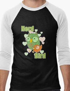Nerd Bird Men's Baseball ¾ T-Shirt