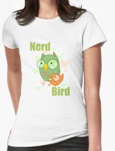 Nerd Bird Womens Fitted T-Shirt