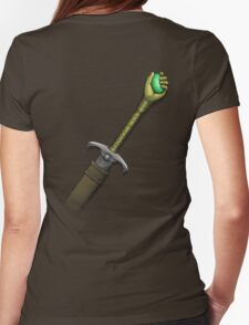 Hawk the Slayer (Mind Sword Back) Womens Fitted T-Shirt
