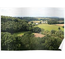 Countryside from top of Goodrich Castle Poster