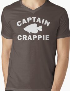 Captain Crappie Mens V-Neck T-Shirt