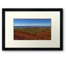 Fall Autumn Colors ~ Aerial View of Fields, Farmland & the Ottawa River ~ Country Landscape Framed Print