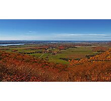 Fall Autumn Colors ~ Aerial View of Fields, Farmland & the Ottawa River ~ Country Landscape Photographic Print
