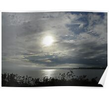 A Cloudy Sunset Poster