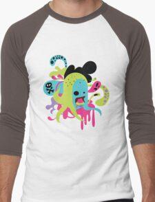 Zombie Nom Men's Baseball ¾ T-Shirt